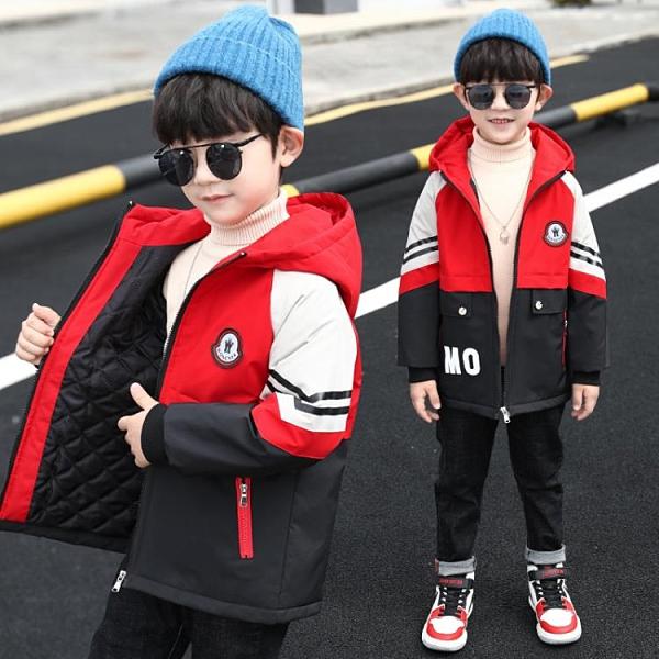 童裝男童加厚外套秋冬裝2021新款中大童男孩韓版風衣兒童夾克外穿 3C數位百貨