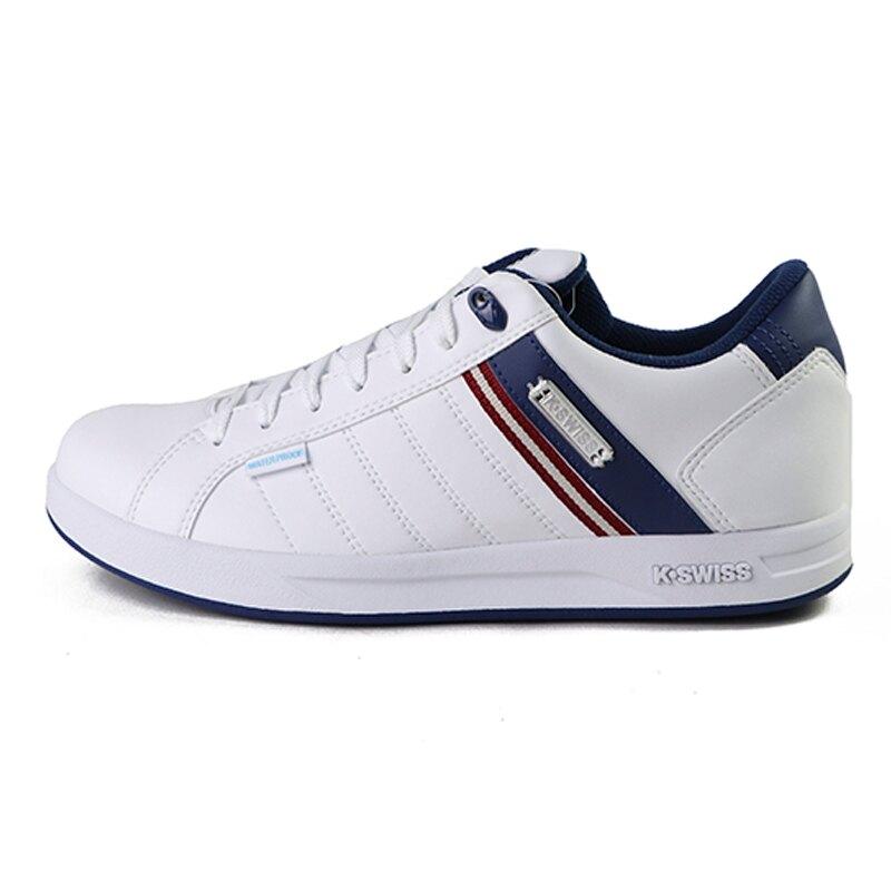 【滿額↘領券再折$150】K-swiss Lundahl 白色 皮質 防水 休閒運動鞋 女款NO.J0700【新竹皇家 96100-172】