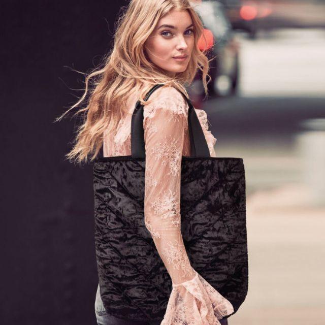高貴絲絨 vs 美國維多利亞的秘密 大型托特包 肩背包 媽媽包 購物袋 運動休閒vbt25