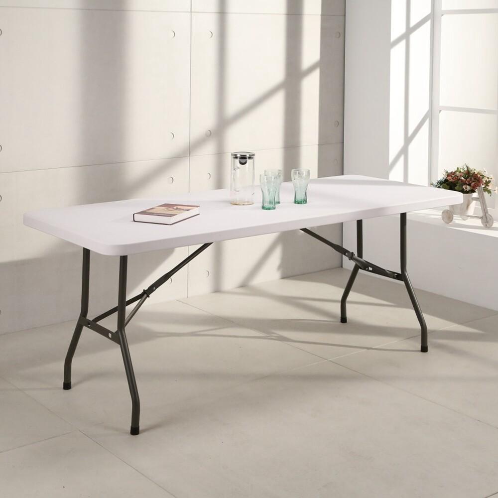 概念家居桌面無法對折!!升級版塑鋼萬用摺疊 露營桌  折合桌 活動桌 cz183