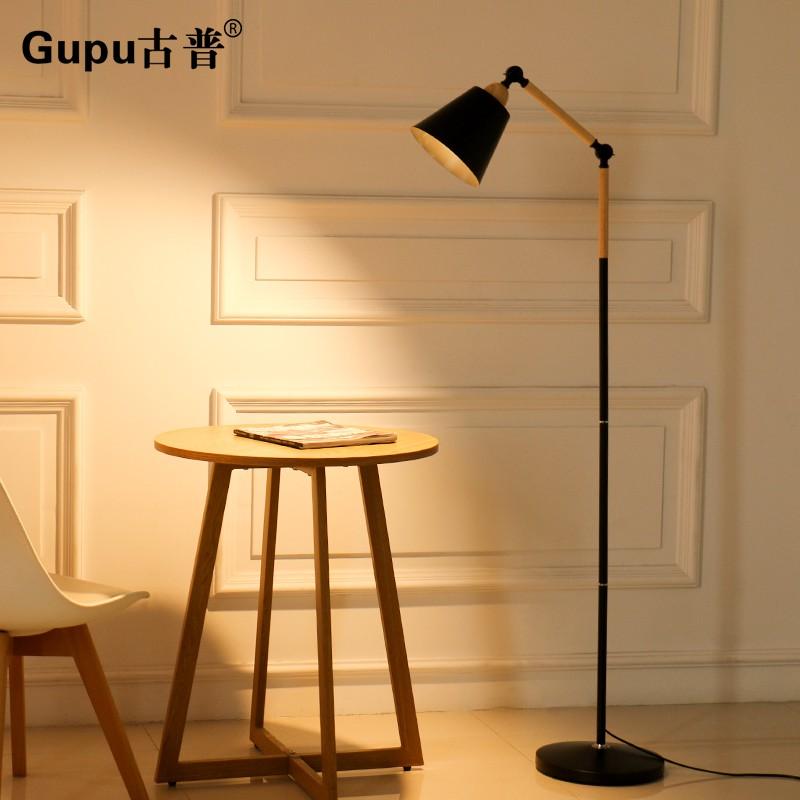 【工廠直銷】落地燈現代簡約LED護眼釣魚燈遙控創意北歐客廳臥室書房立式臺燈
