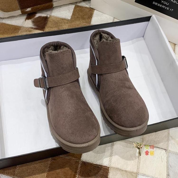 雪靴 面包鞋雪地靴女秋冬新款保暖加厚面包鞋平底學生防滑棉鞋女冬加絨款