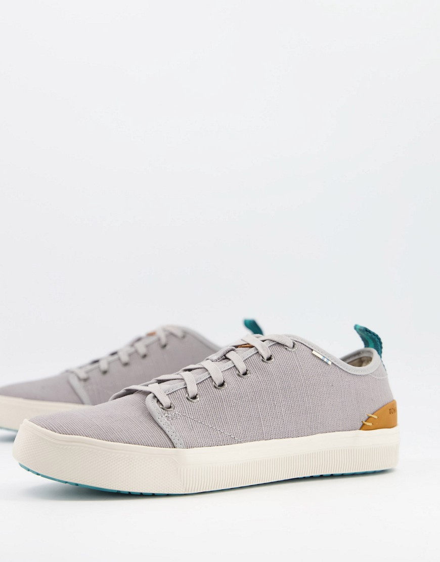 Toms trvl lite lace up trainers in grey