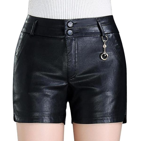 pu皮短褲女秋冬款新款