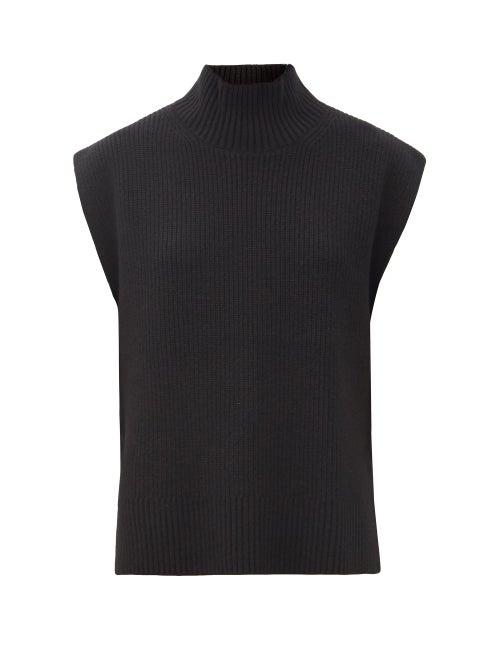Cefinn - Janice Roll-neck Sleeveless Wool-blend Sweater - Womens - Black