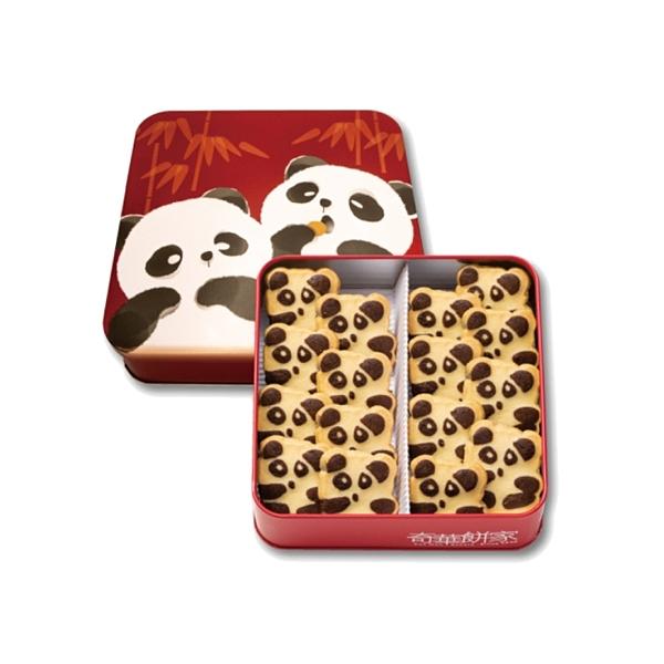 kee wah bakery 奇華餅家 熊貓曲奇禮盒(附白色提袋)240g【小三美日】※限宅配/禁空運