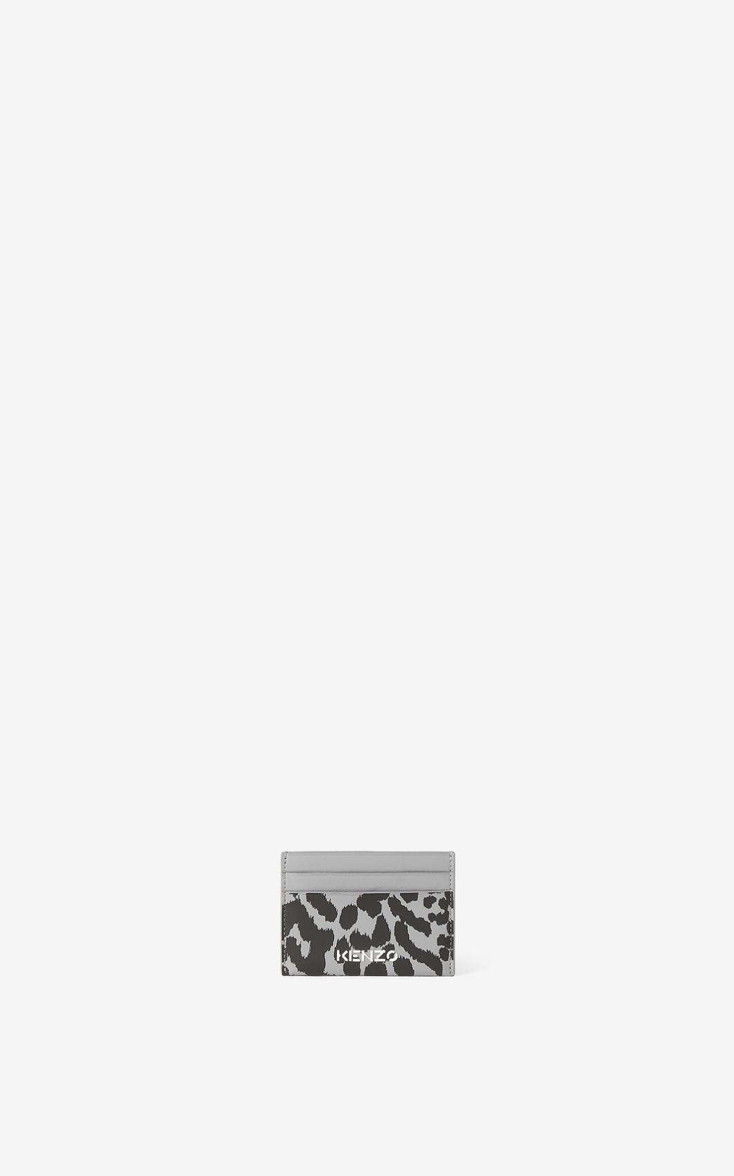 KENZO Porte-cartes en cuir