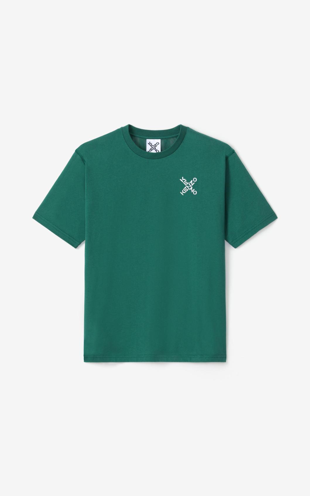 KENZO T-shirt en mesh KENZO Sport 'Little X'