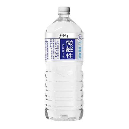 多喝水微鹼性竹炭離子水2000ML