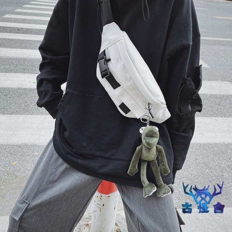 胸包男小包休閒側背斜背包日系腰包包時尚創意個性