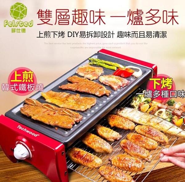 烤肉盤110V專用 韓式烤肉不黏烤盤烤肉機電烤盤 雙層烤肉