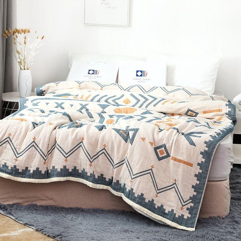 毛巾被純棉雙人午睡毯單人蓋毯北歐風格六層