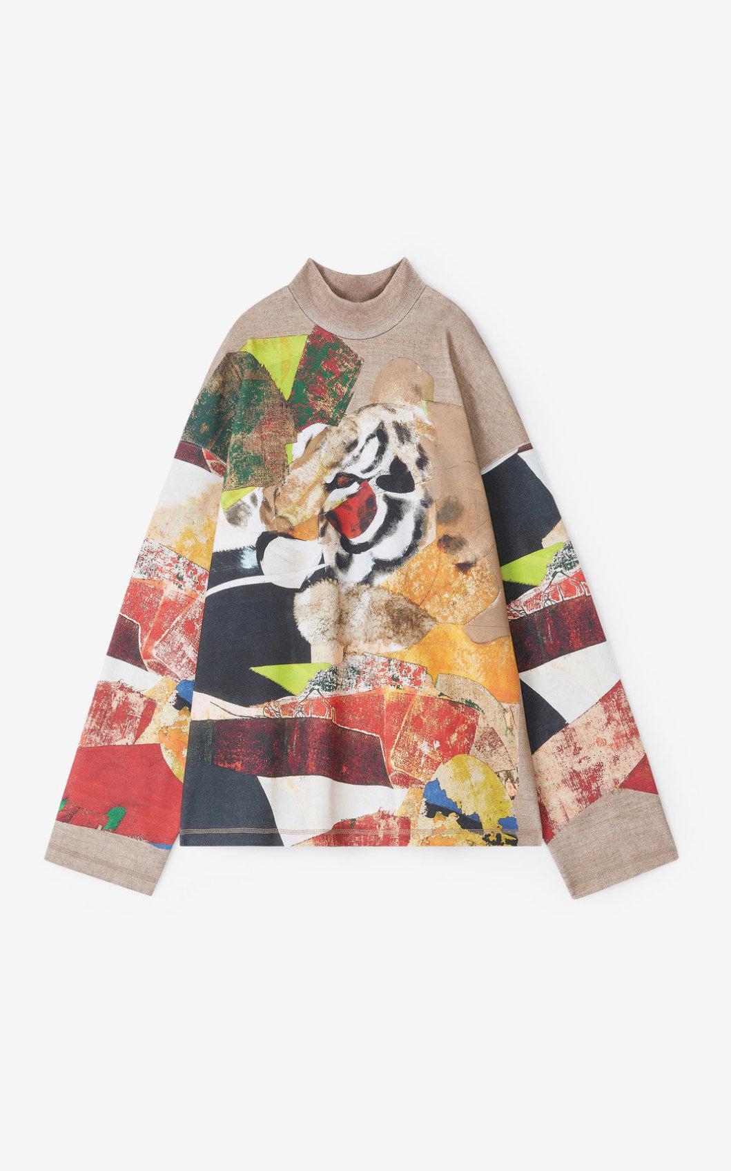KENZO Sweatshirt avec illustration de Jùlio Pomar