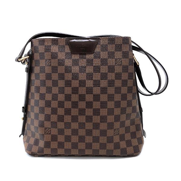 【台中米蘭站】全新品 Louis Vuitton Ebene Damier 帆布側拉鍊肩背包(N41108-咖)