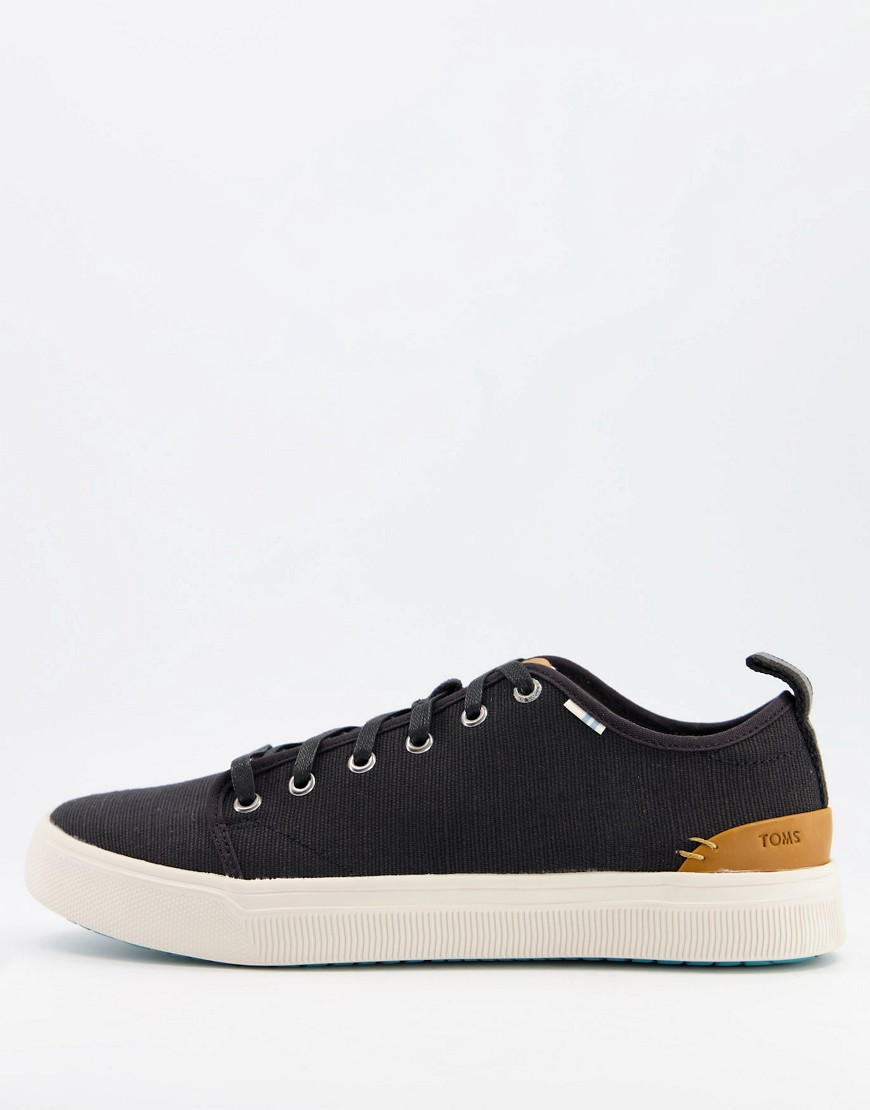 Toms trvl lite lace up trainers in black