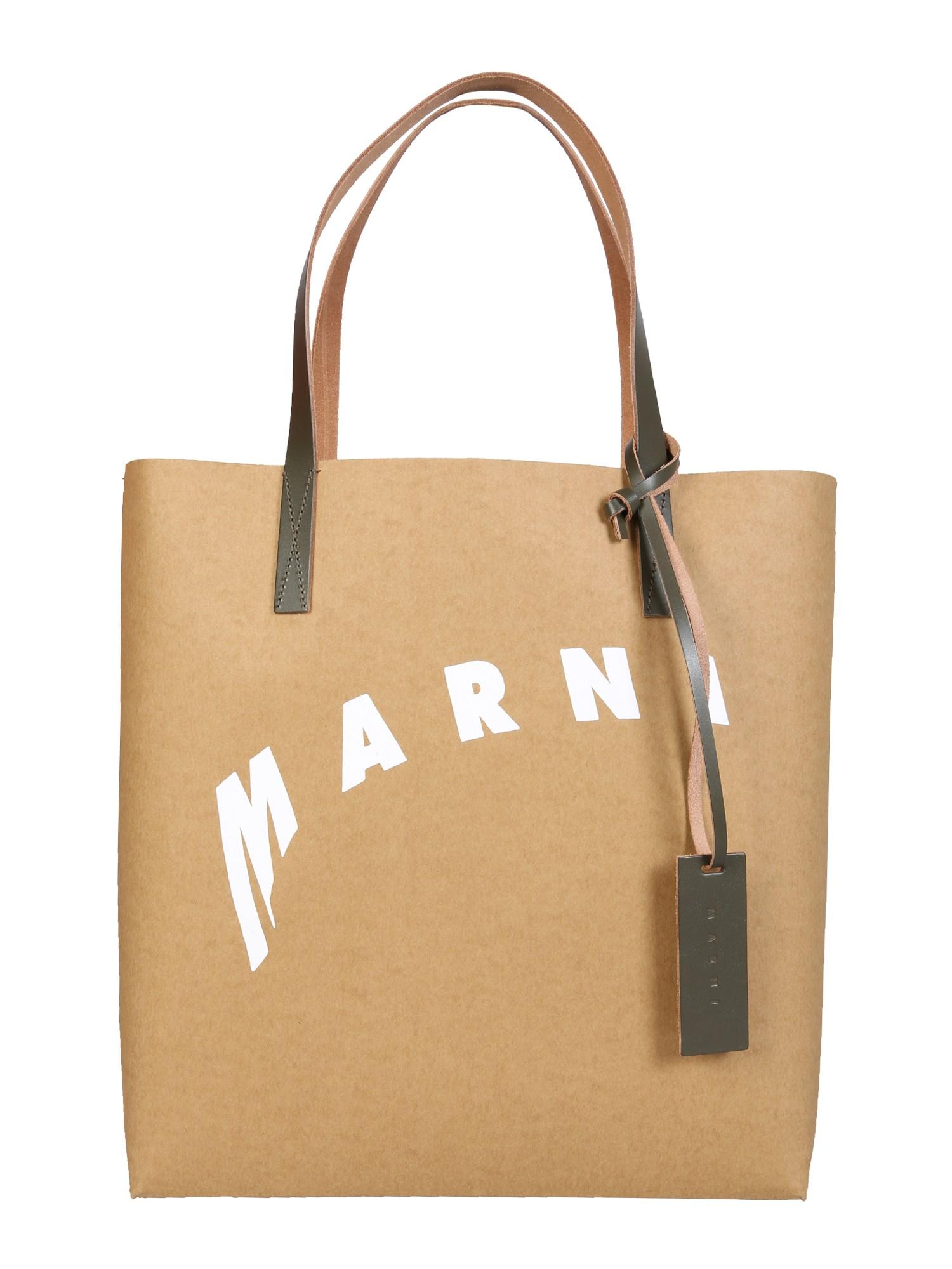 marni shopping bag with distorted logo