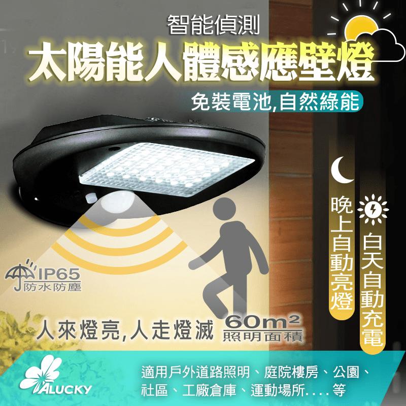 【ALUCKY】太陽能人體感應壁燈(人體感應戶外壁燈)