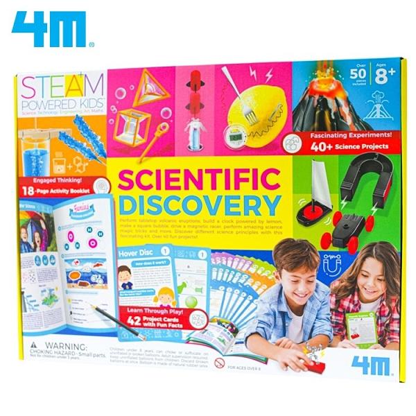 又敗家@4M科學大驚奇科學玩具組00-01711(42堂科學實驗)Scientific親子科玩Discovery電磁力氣象魔術