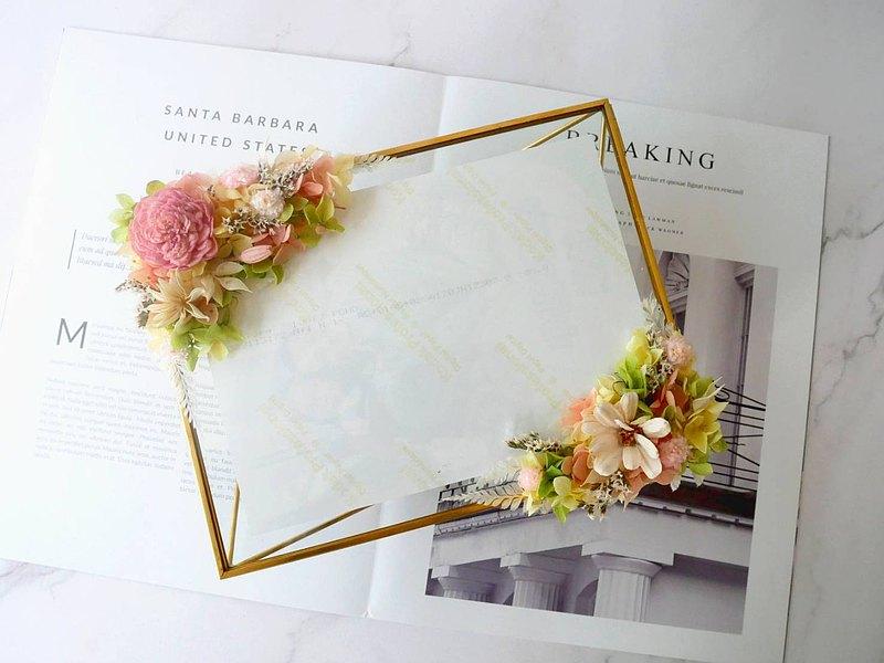 太陽玫瑰相框【絢麗】新婚禮物/簽名桌擺飾/婚禮布置diy