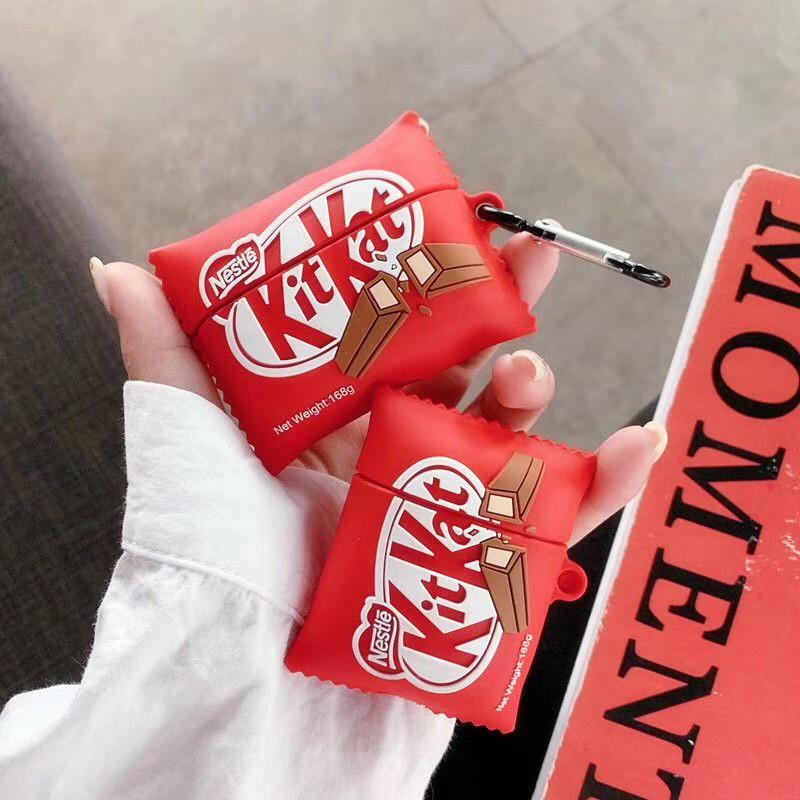 【現貨】Airpods pro 1/2代保護套 Kitkan巧克力 防摔 硅膠 軟殼 耳機保護套 耳機保護殼 耳機收納盒