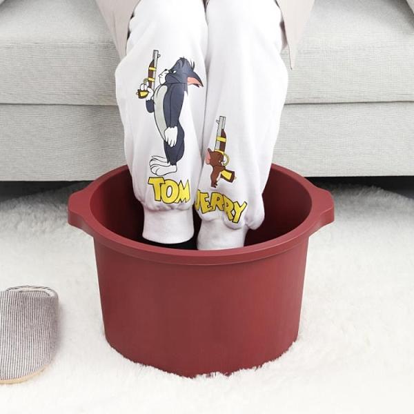 泡腳桶 過小腿家用高深桶塑料泡腳盆足浴盆加高按摩洗腳足浴桶TW【快速出貨八折特惠】