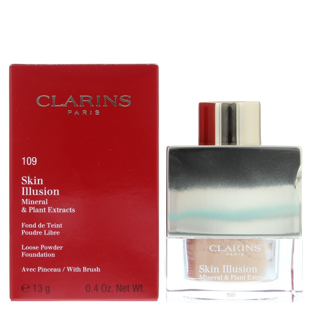 Clarins - Skin Illusion Mineral & Plant Extracts Powder Foundation #109 Wheat