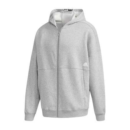 adidas 外套 MH Fleece Sweatshirt 男款 愛迪達 三線 連帽 基本款 內刷毛 灰 黑 GE0383 GE0383