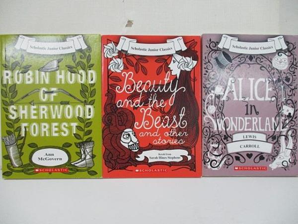 【書寶二手書T4/原文小說_CG4】Alice In Wonderland_Robin Hood of Sherwood…3本合售
