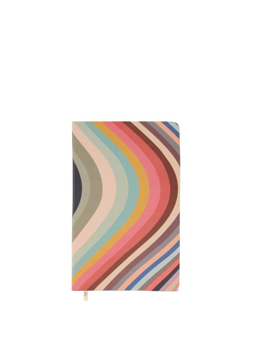 Paul Smith - Medium Swirl Stripe Notebook - Mens - Multi