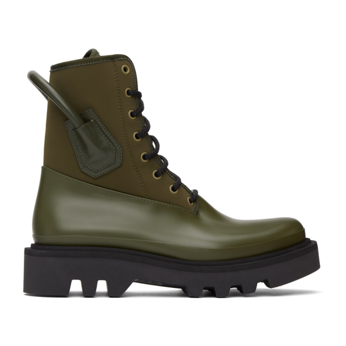Givenchy 军绿色 Combat 踝靴