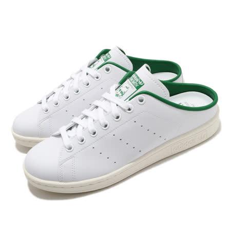 adidas 休閒鞋 Stan Smith Mule 男女鞋 愛迪達 三葉草 穆勒鞋 方便 情侶鞋 白 綠 FX5849 FX5849