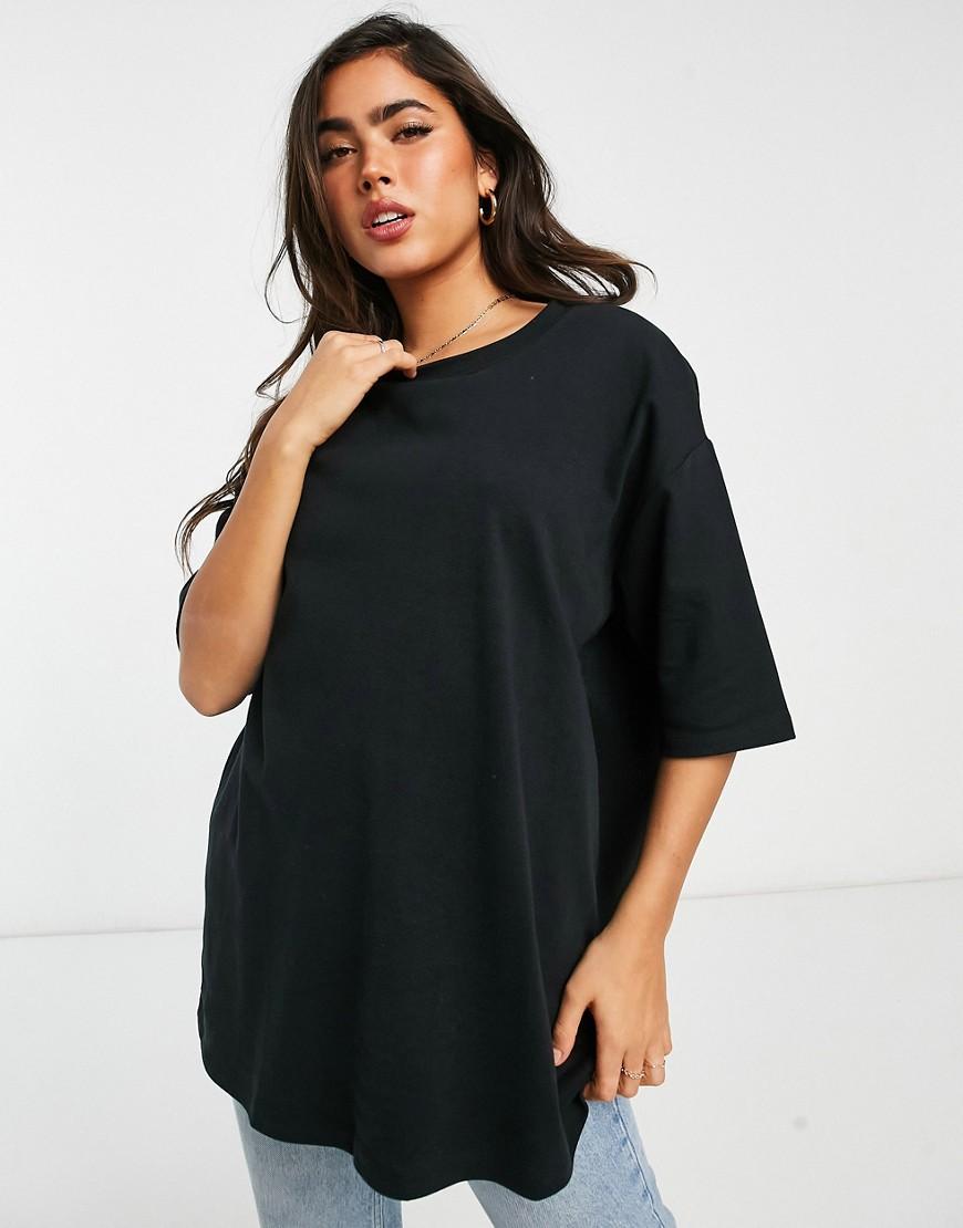 Selected Femme oversized sweat in black