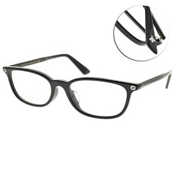 GUCCI 光學眼鏡 經典方框款(黑) #GG0123OJ 001