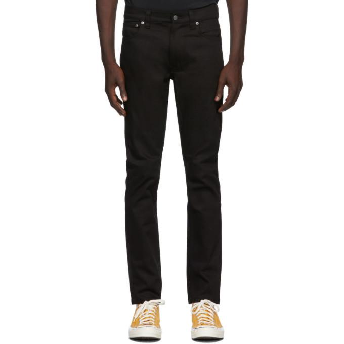 Nudie Jeans 黑色 Lean Dean Dry 有机棉牛仔裤