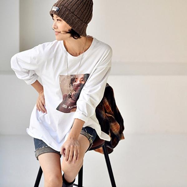 純棉T恤女 做舊個性破上衣 圓領內搭上衣-夢想家-T8508C-0119