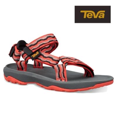 【TEVA】原廠貨 中童 Hurricane XLT2 機能運動涼鞋/雨鞋/水鞋(基什紅-TV1019390CKFRD)