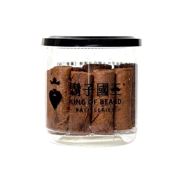 King Of Beard 鬍子國王 頂級手工法國奶油蛋捲(輕巧隨手瓶)-巧克力(140g)【小三美日】