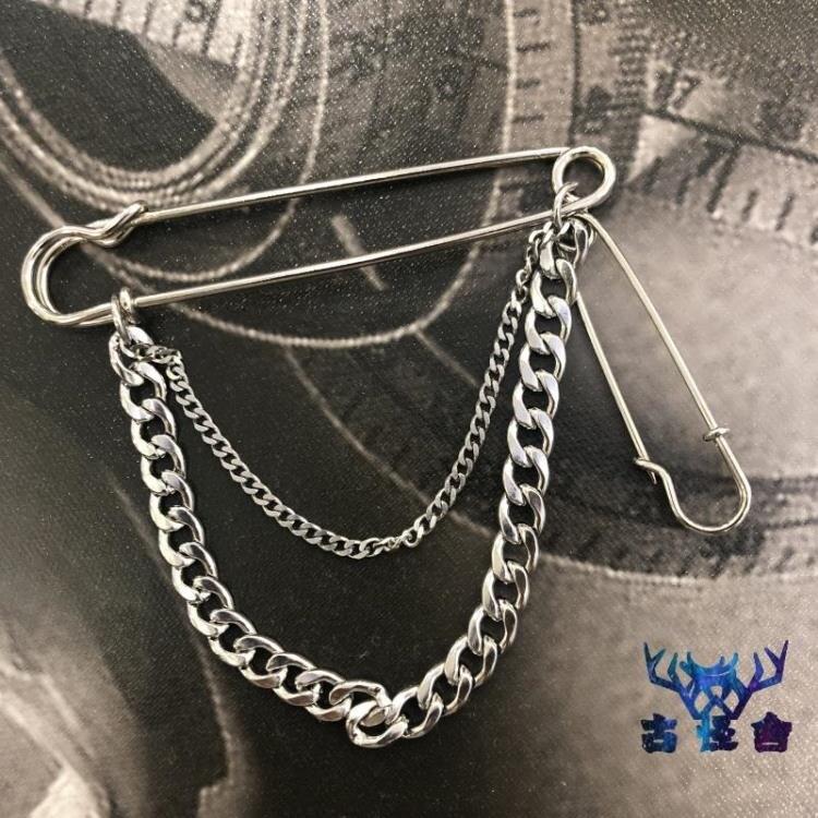 胸針百搭西服個性金屬裝飾鏈子吊墜別針簡約配飾