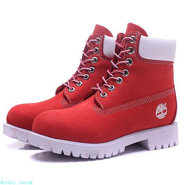 【JOJO店鋪】海外代購 Timberland 經典色 10061紅白 情侶靴 雨靴 休閒靴 男鞋 女鞋 添柏嵐 戶外運