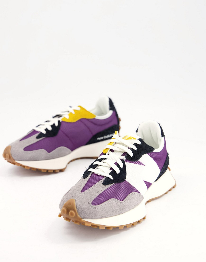 New Balance 327 trainers in lilac and grey-Purple