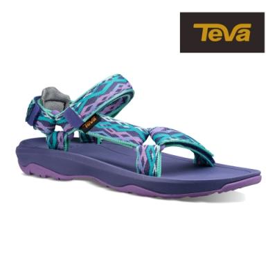 【TEVA】原廠貨 大童 Hurricane XLT2 機能運動涼鞋/雨鞋/水鞋(鎖鏈粉藍/紫-TV1019390YDSGP)
