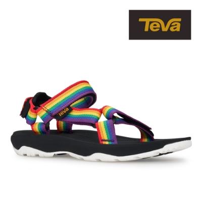 【TEVA】原廠貨 中童 Hurricane XLT2 Pride 機能運動涼鞋/雨鞋/水鞋(彩虹/黑-TV1019390CRWBC)