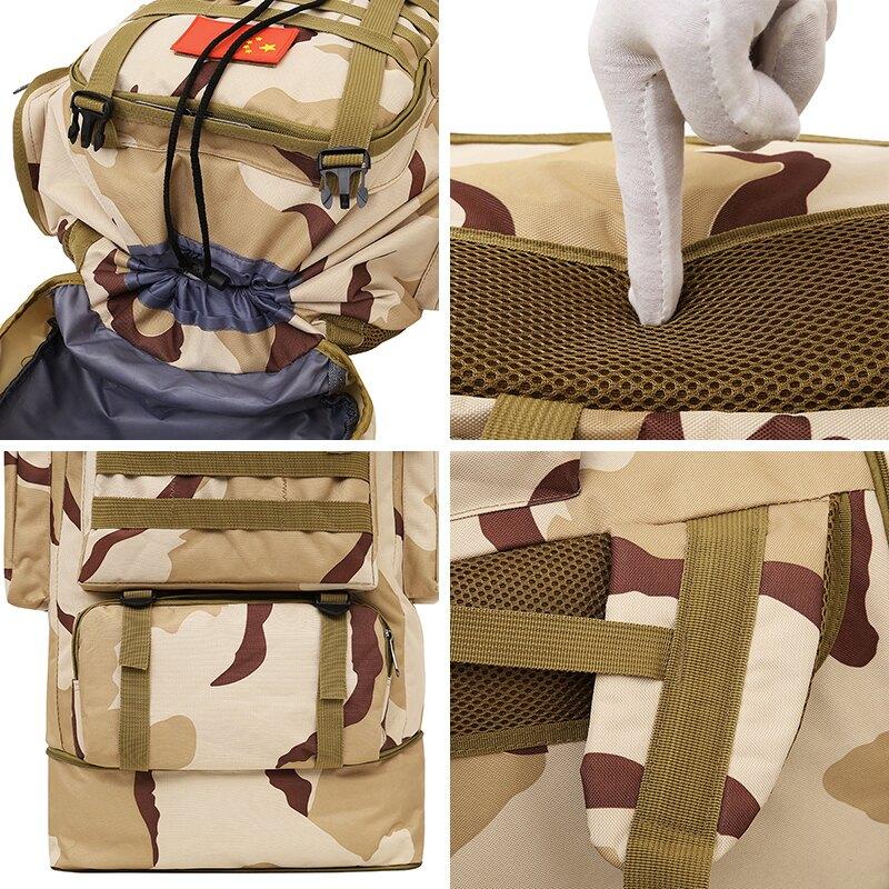 登山背包 特大防水迷彩超大容量背包行李戶外男旅行越野雙肩打工搬家登山包『CM43783』