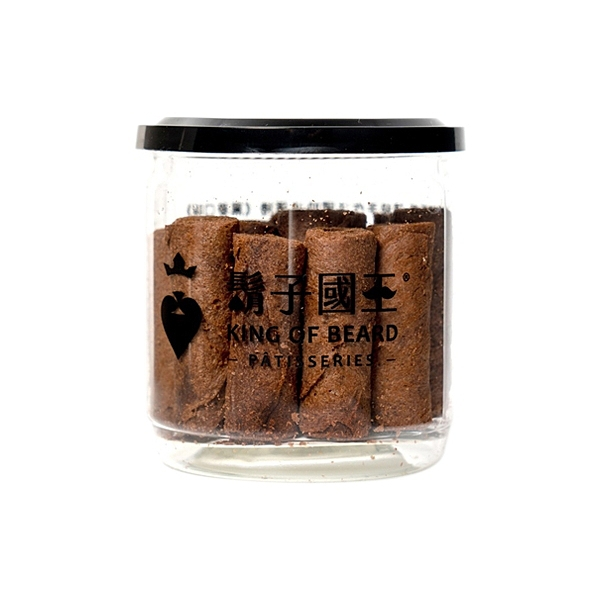 King Of Beard 鬍子國王 頂級手工法國奶油蛋捲(輕巧隨手瓶)-巧克力(140g)【小三美日】※禁空運