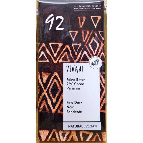 Vivani 德國 92%黑巧克力 80g/片 德國原裝
