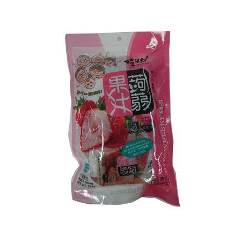 TW吃果籽草莓果汁蒟蒻312g【愛買】