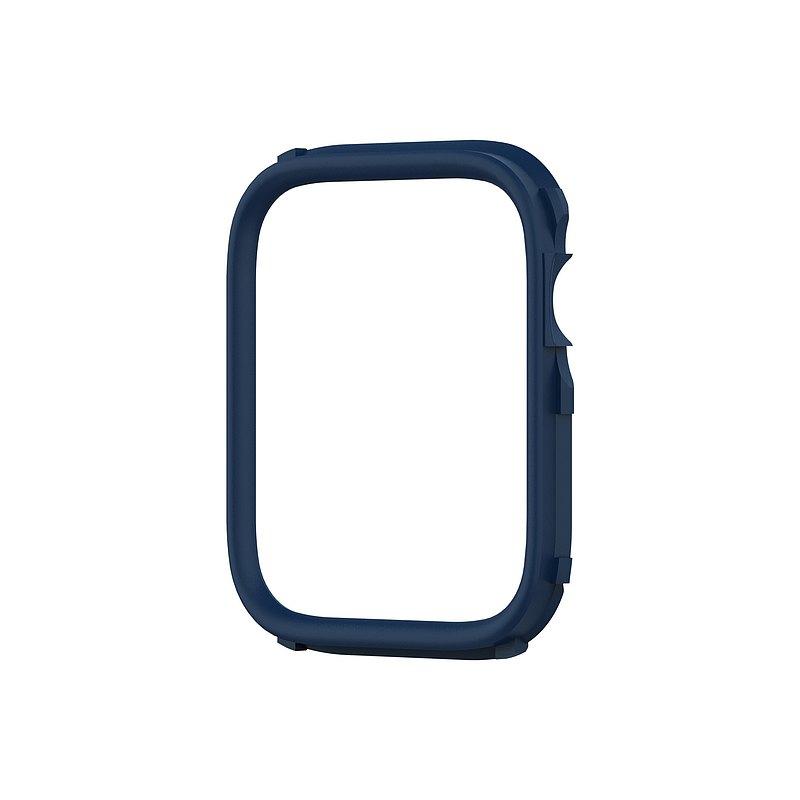 Apple Watch 6/SE/5/4/3/2/1代Crashguard NX邊框殼飾條-海軍藍