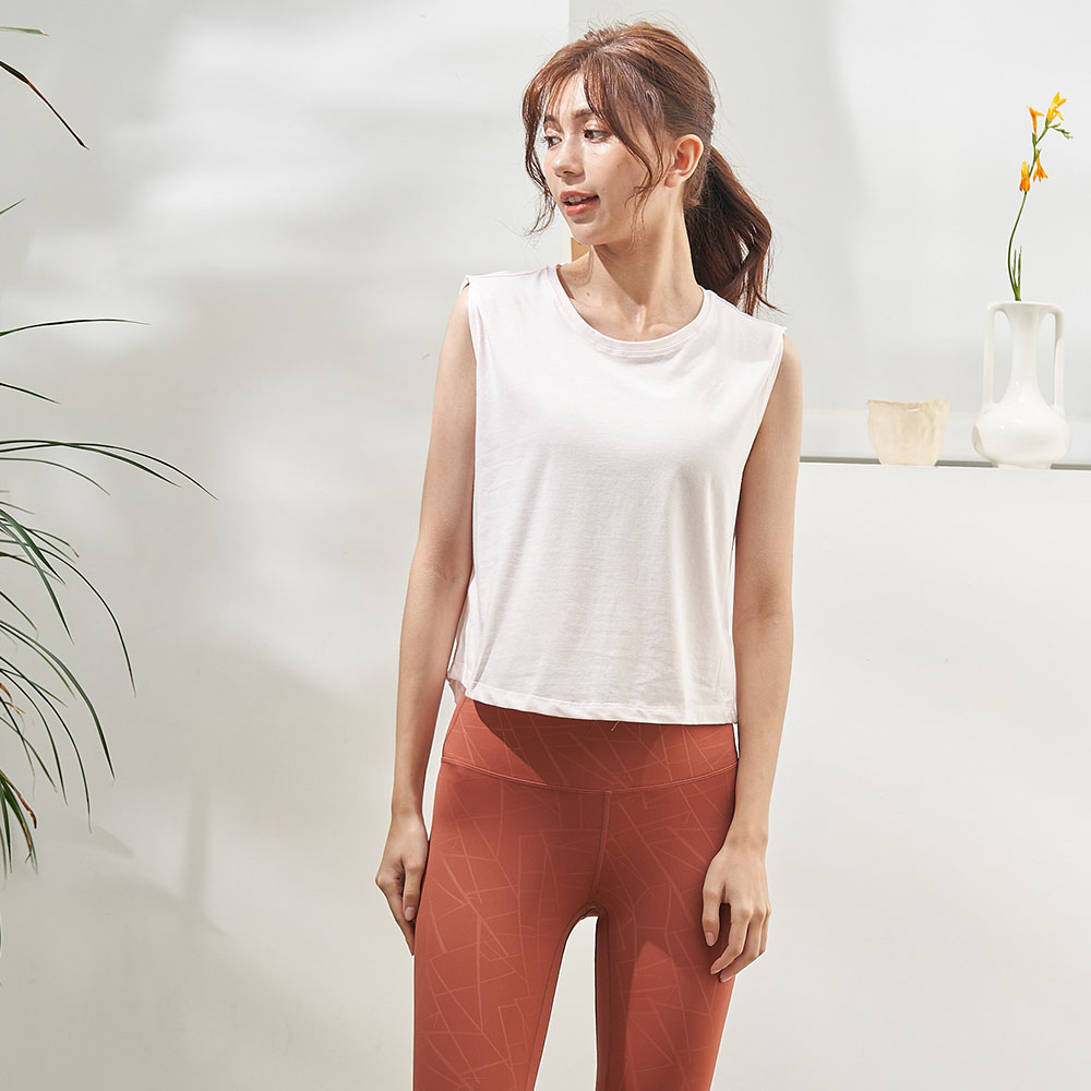 輕夏短版運動罩衫(薄棉)-淡粉