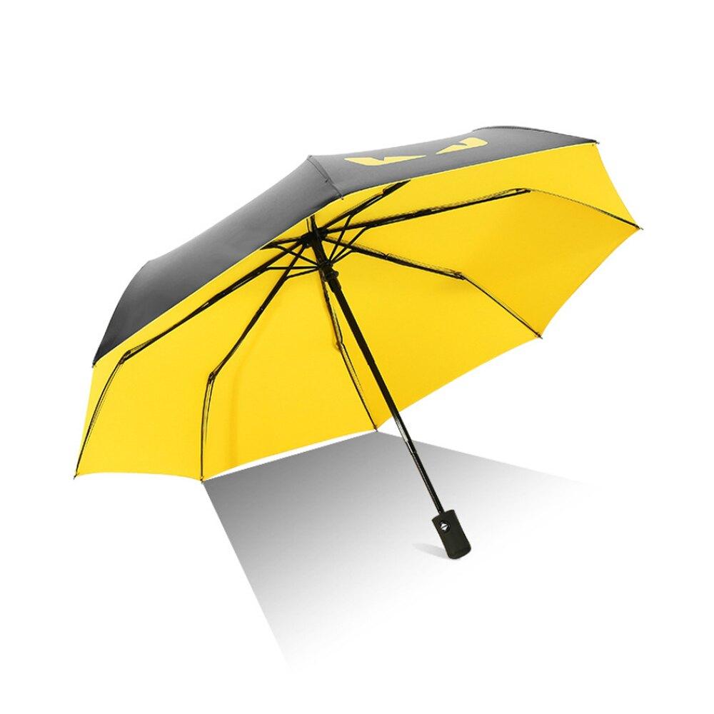 【優廚寶】惡魔之眼自動摺疊兩用晴雨傘防紫外線/防曬/防風(4色可選)