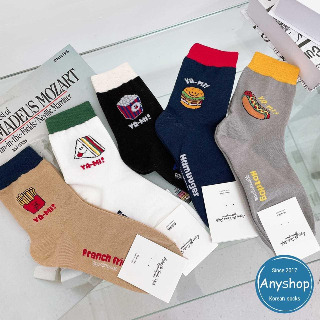 韓國襪-[Anyshop]可愛速食襪口撞色長襪